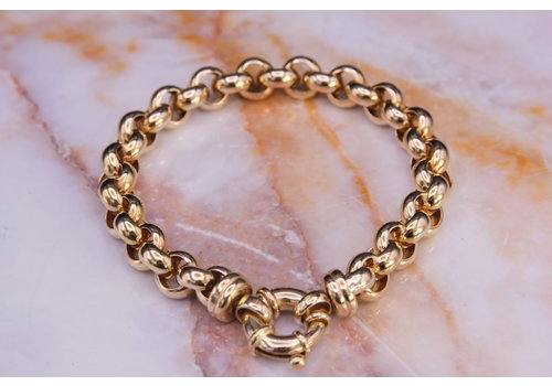 14k geel gouden jasseron armband