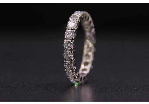 14k wit gouden alliance ring met Briljant