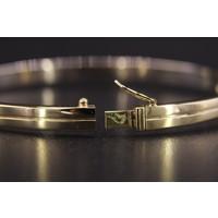 14k bicolor set armband, ring en oorknoppen met Briljant