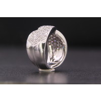 14k wit gouden ring met Briljant