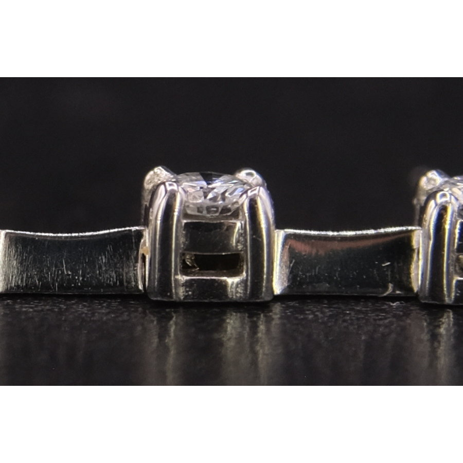 18k wit gouden armband met Briljanten
