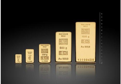TONY GOETZ 250g goudbaar 999.99