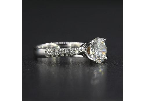 18k witgouden ring met Briljant