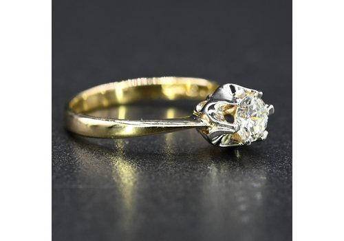 14kbicolor ring met briljant