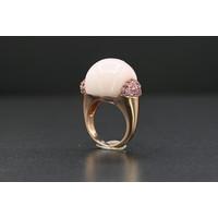 18k Rose gouden ring met jade