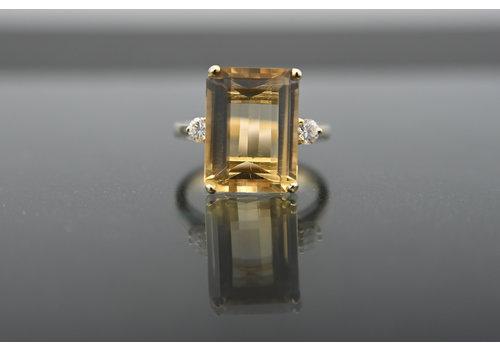 Nieuw 18 karaat  geel goud ring