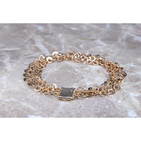 Occasion 18 karaat Ros goud armband 12.45gr 18.5cm 10 mm