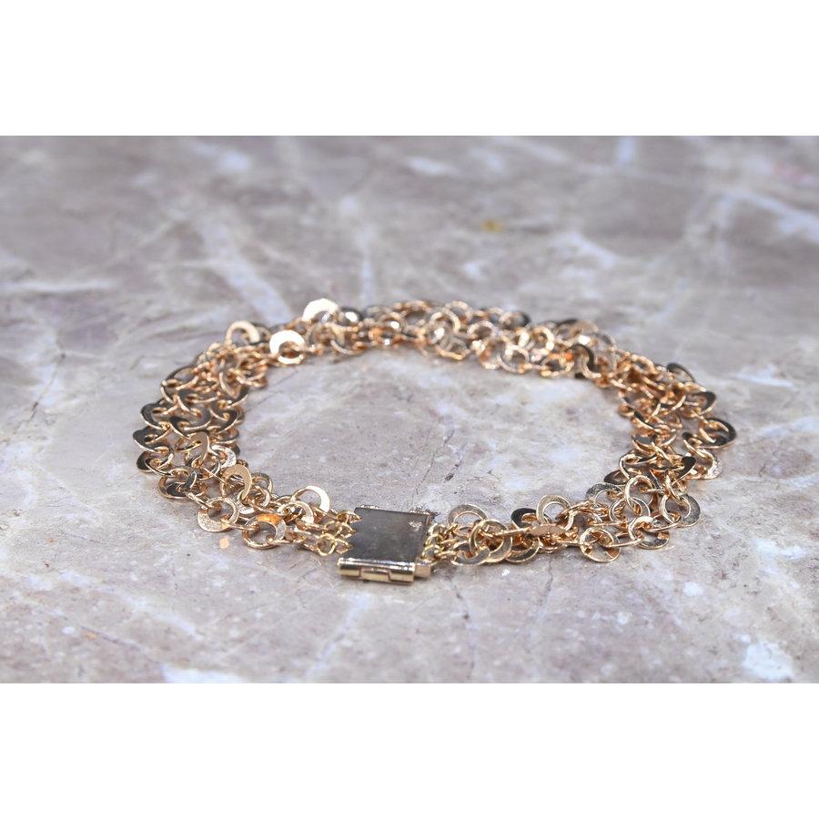Occasion 18 karaat Ros goud armband