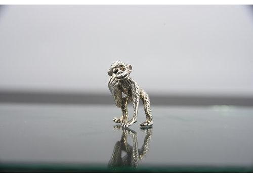occasion zilver miniatuur aapje U.RR