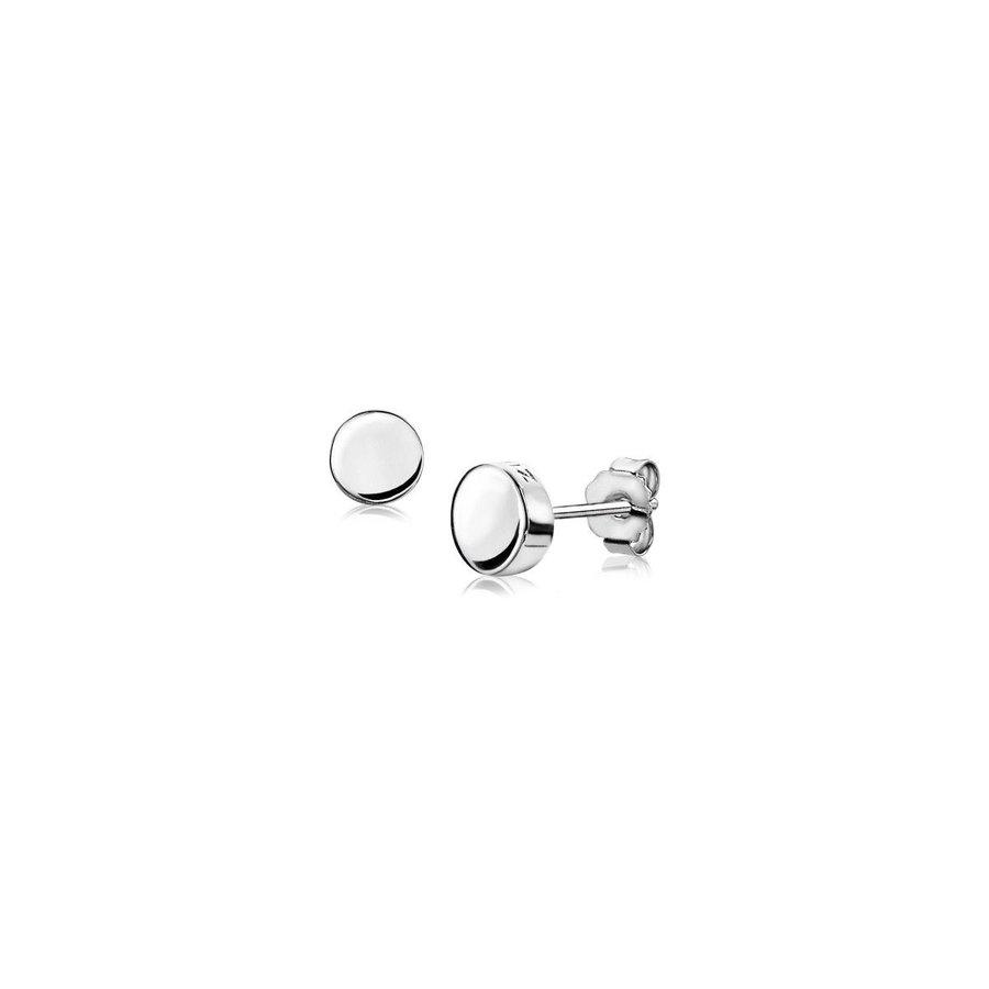 ZINZI zilveren oorknoppen glad rond 6mm ZIO1376 U.UR