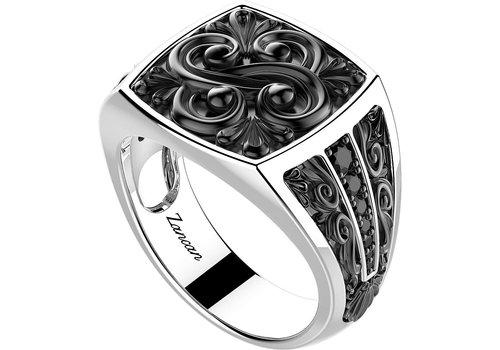zancan zilver heren ring exa147  HH.RR