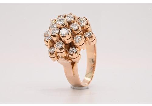 18k rosé gouden ring met Briljant