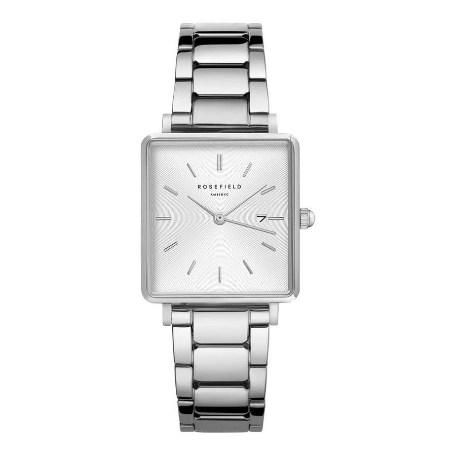 Rosefield QWSS-Q042 dames horloge zilver HD.