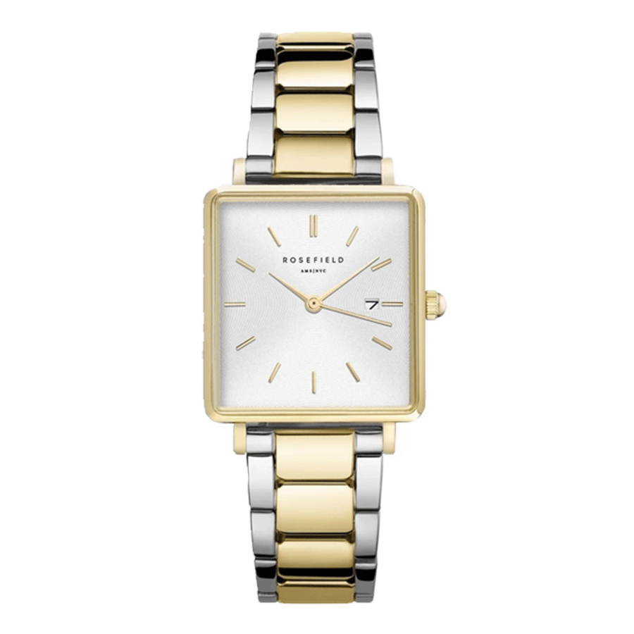 Rosefield QWSSG-Q043 dames horloge bicolor HD.