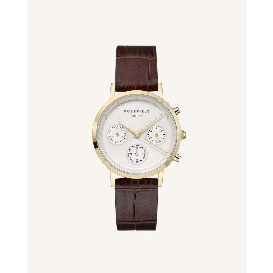 Rosefield NCDBG-N93 dames horloge bruine band HD.
