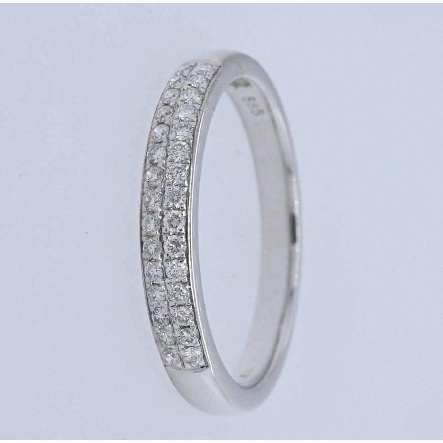 Occasion 14 karaat wit goud ring 2.2 gram