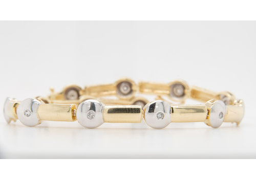 Occasion 14 karaat bicolor armband 13.92 gram