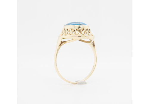 Occasion 14 karaat geel goud ring turquoise 3.1 gram
