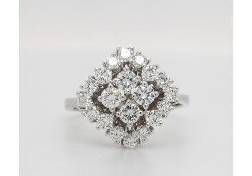 Occasion 18 karaat wit goud ring briljant 5.6 gram