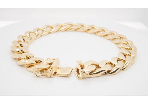 Nieuw 14  karaat geel goud armband 80.9 gram