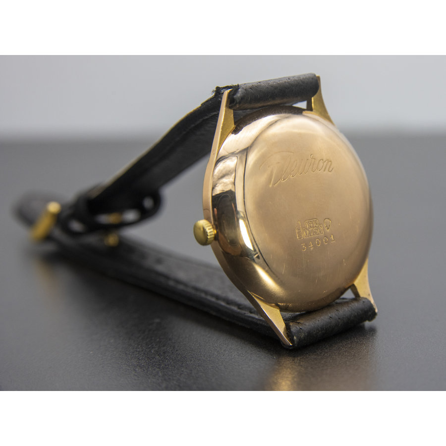 Occasion  18 karaat rosé  goud heren  horloge Fleuron