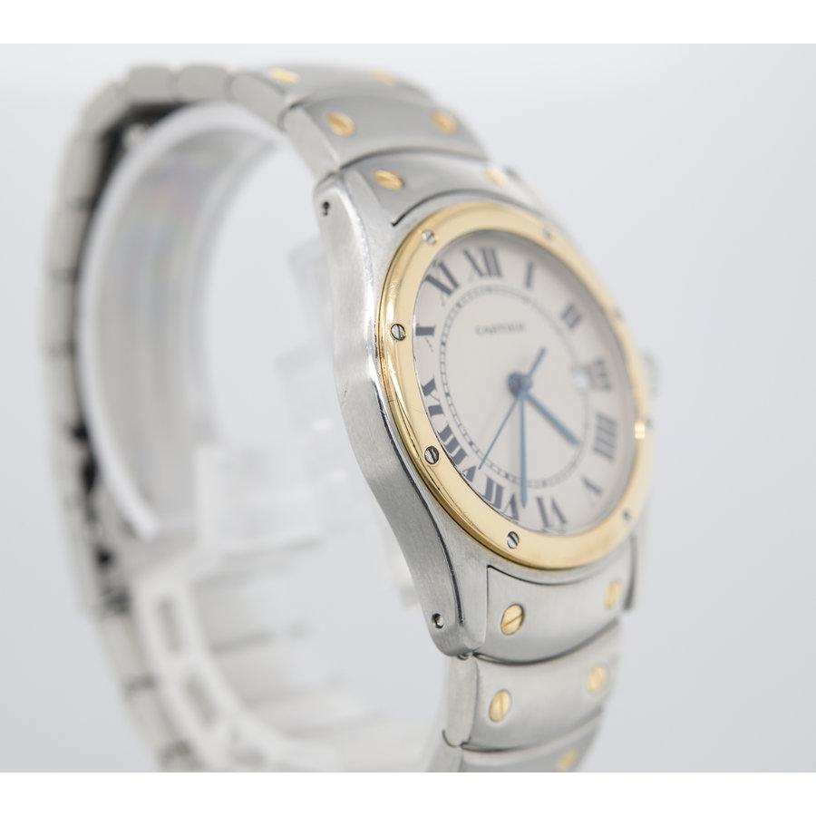 Ocaasion Cartier Santos Ronde dames horloge.