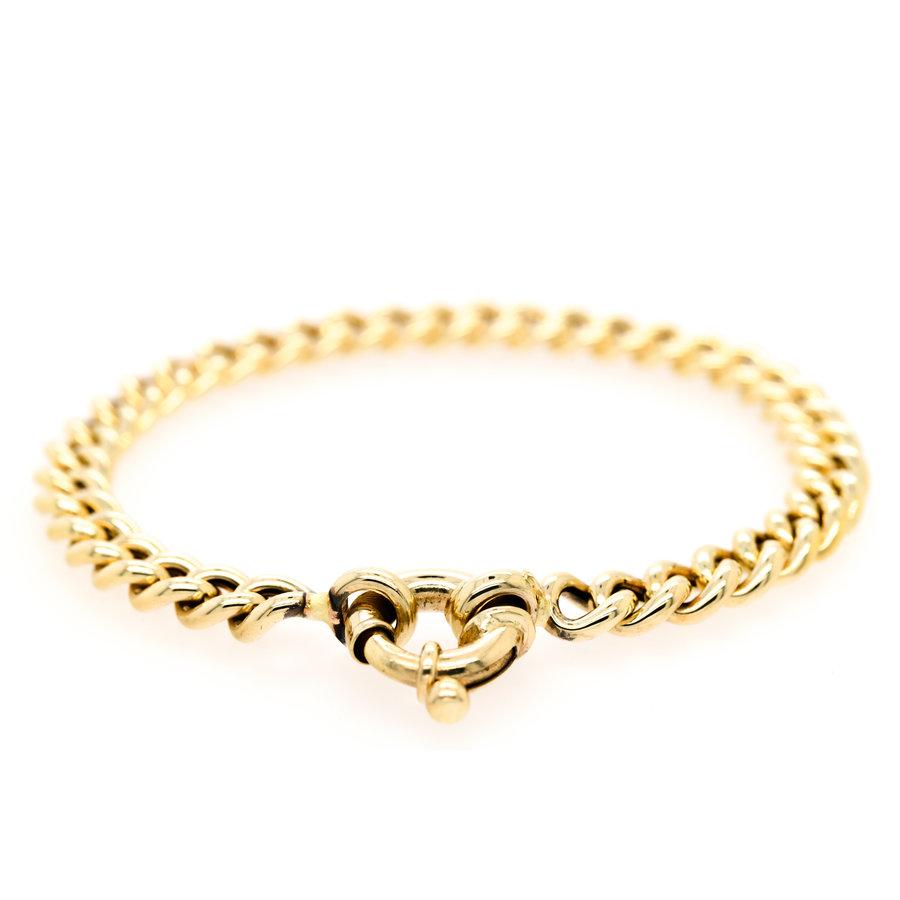 Occasion 14 karaat geel goud gourmet armband 10.98 gram