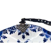 Occasion Delfts Blauw met verzilverd handvat