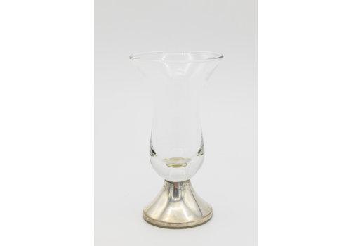 Occasion zilver borrel glas