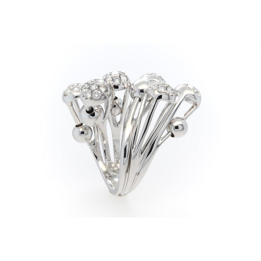 Occasion 18 karaat wit goud ring briljant 16.3 gram