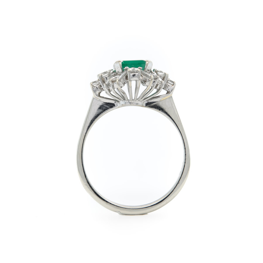 Occasion 18 karaat wit goud ring briljant 4.2 gram