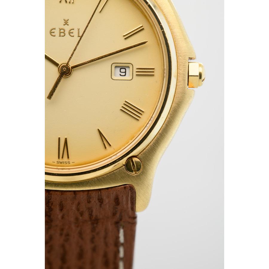 Occasion Ebel 18 karaat geel goud heren horloge
