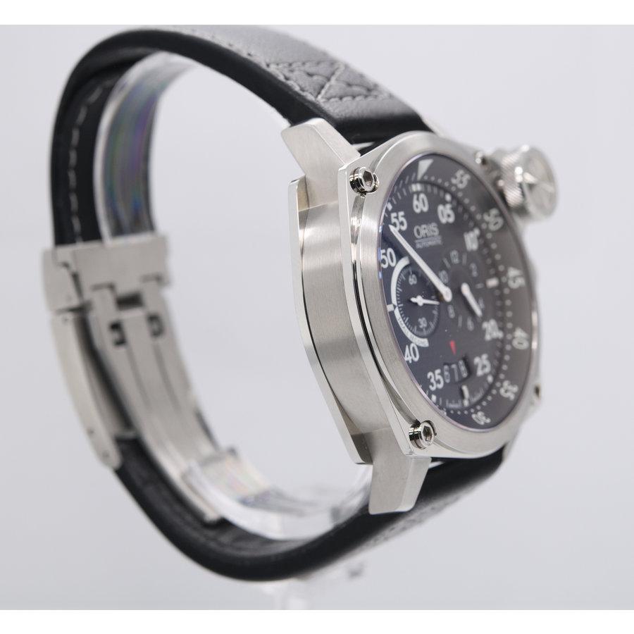 Occasion Oris heren horloge staal/leerband
