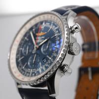 Occasion Breitling heren horloge staal/ leer band