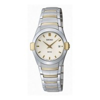 seiko SXB386P1 dames horloge bicolor