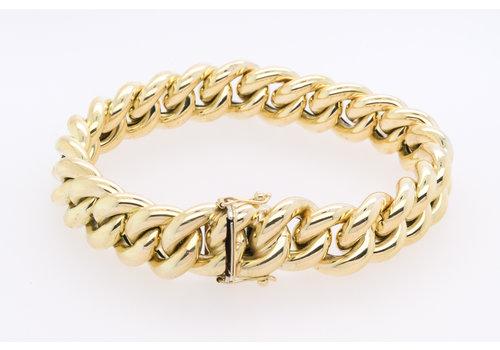 Occasion 14 karaat geel goud armband 32.95 gram