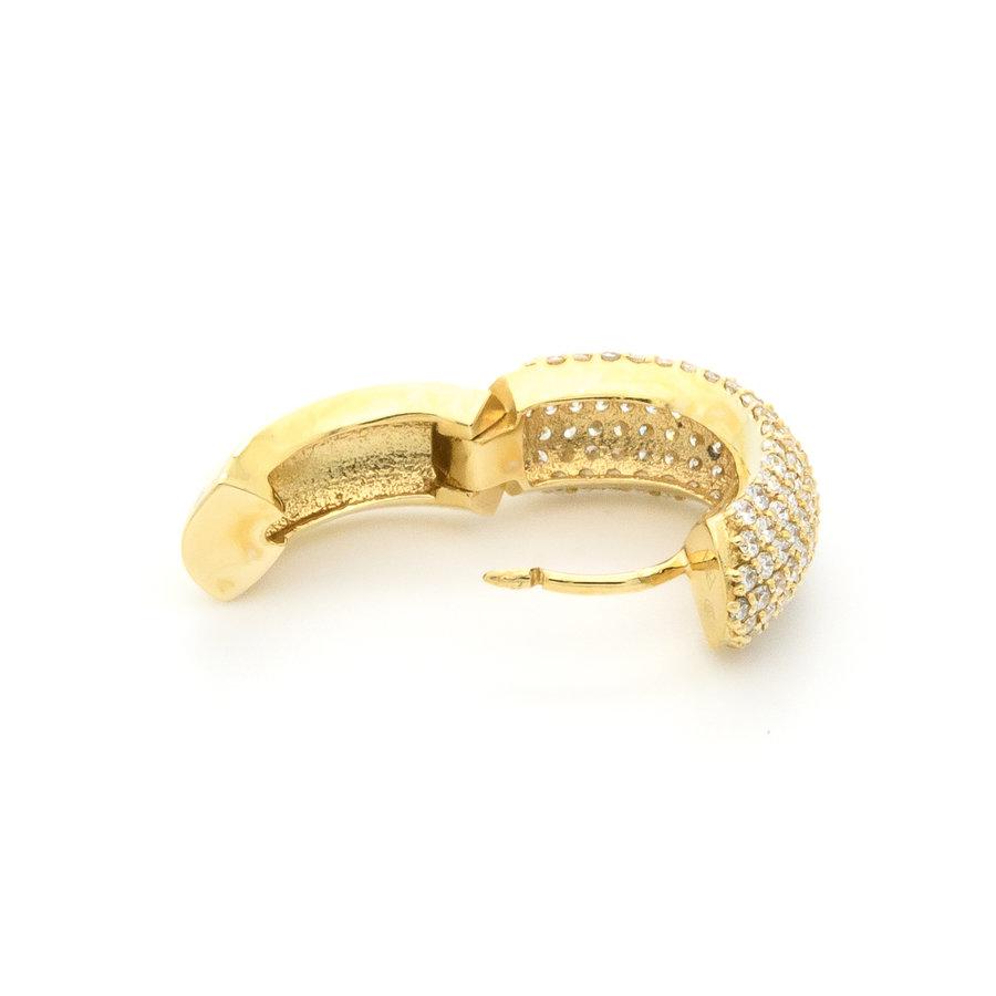 New 18 karaat geel goud oorring 7.34 gram