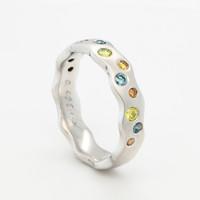 Nieuw  14 karaat wit goud ring fancy briljant 6.4 gram