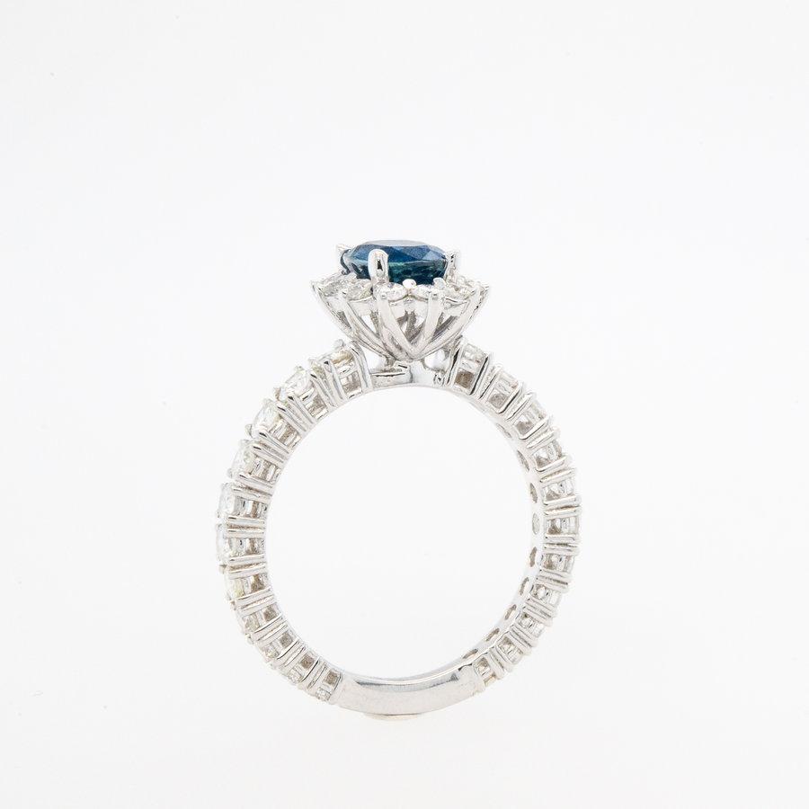 Nieuw 18 karaat wit goud ring 4.2 gram