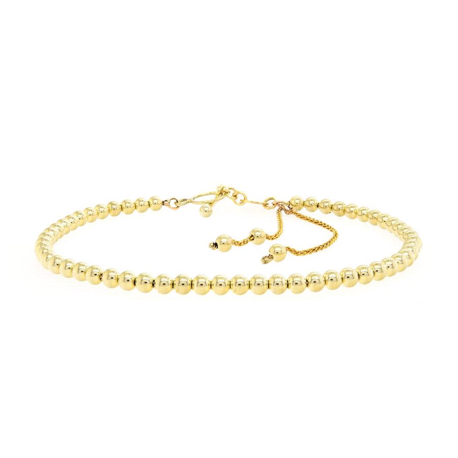 Nieuw 14 karaat geel goud armband 5.1 gram pols maat 18.5 cm