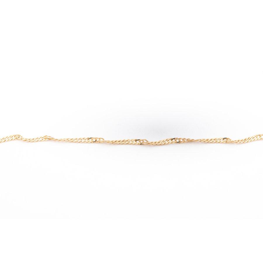 Occasion 14 karaat geel goud collier met hartje 1.59 gram