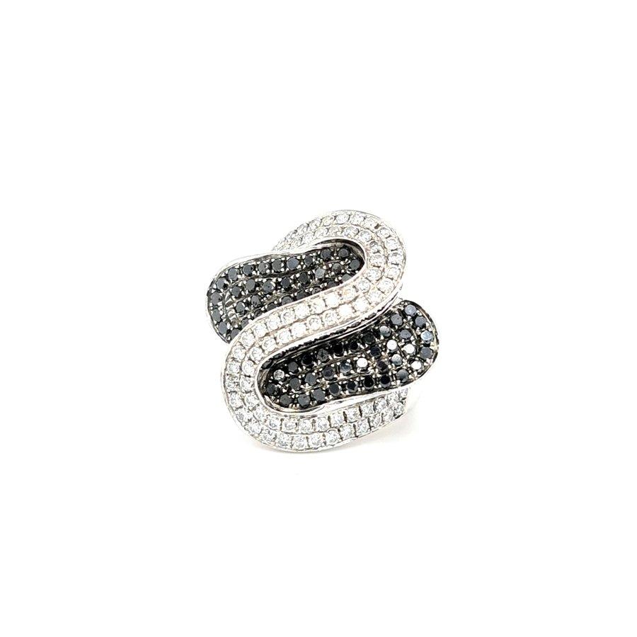 Occasion 18 karaat wit goud ring briljant 15.1 gram