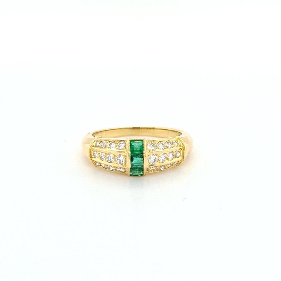 Occasion 18 karaat geel goud ring brilj/ sma 4.6 gram