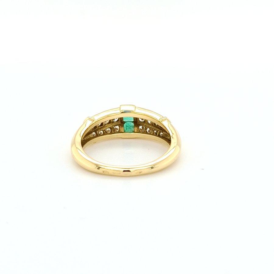 Occasion 18 karaat geel goud ring brij/ sma 4.6 gram