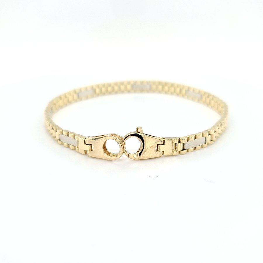 Occasion 14 karaat  geel gouden armband  14.5 gram