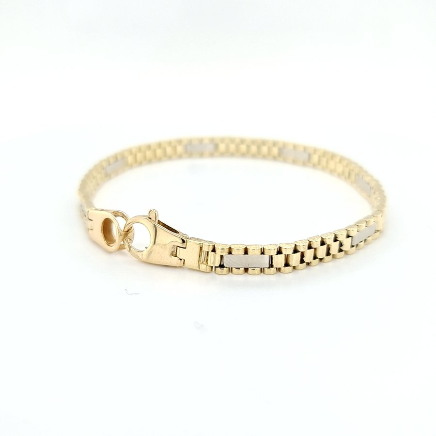 Occasion 14 krt.  geelgouden armband  14.5gr.