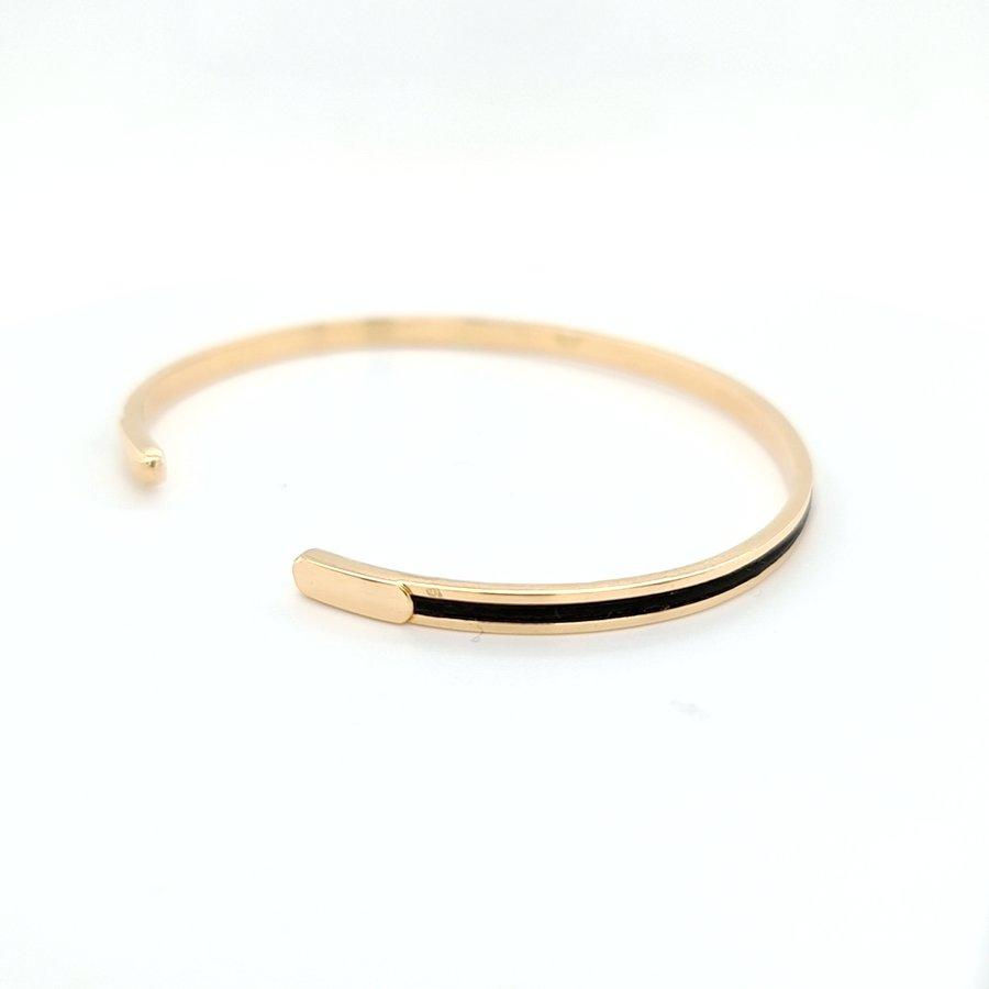 Occasion 14 karaat geel gouden armband onyx 10 gram