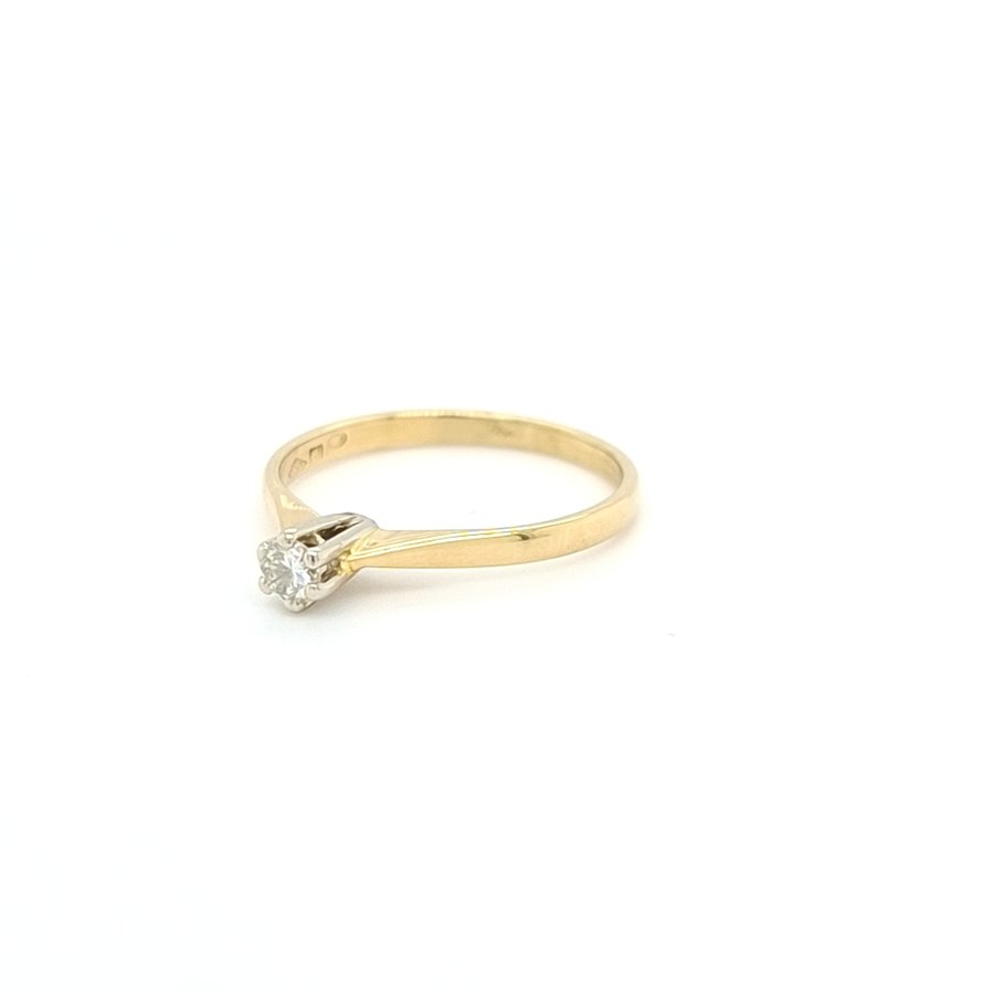 Occasion 14 karaat geel gouden solitair ring 1.4 gram