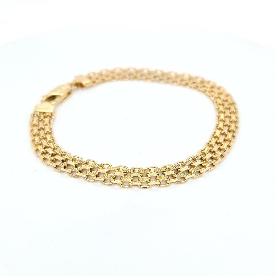 Occasion 18 karaat geel gouden armband 11.02 gram