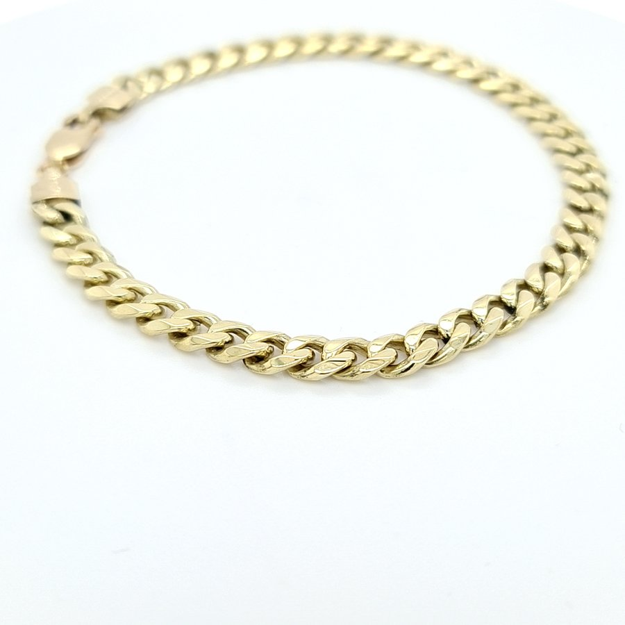 Occasion 14 karaat geel gouden  armband 23.1 gram